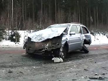Nehoda na náledí
