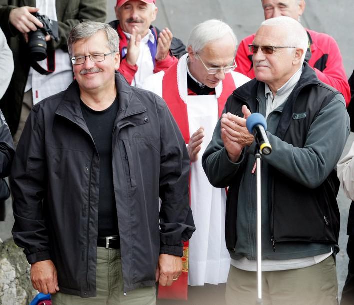 Václav Klaus a Bronislaw Komorowski