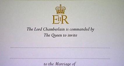 Pozvánka na královskou svatbu