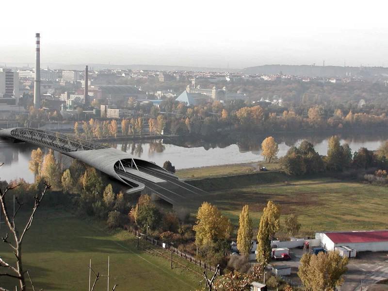 Návrh nového Trojského mostu v Praze, architektonická soutěž