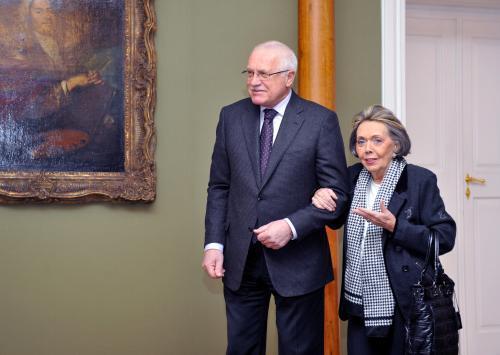 Václav Klaus a Jiřina Jirásková