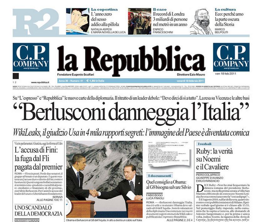 La Repubblica z 18. února 2011