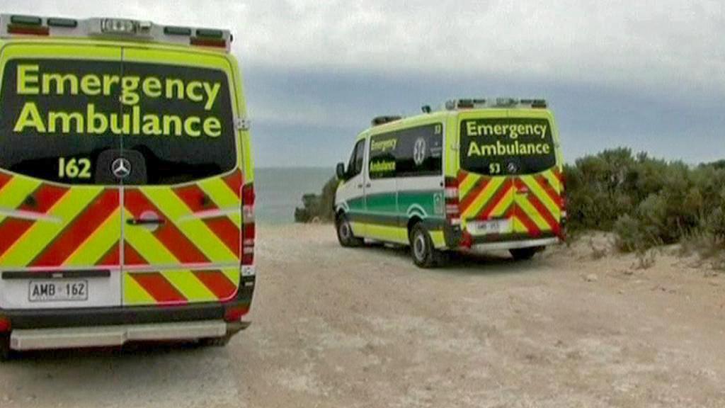 Záchranáři na australském pobřeží