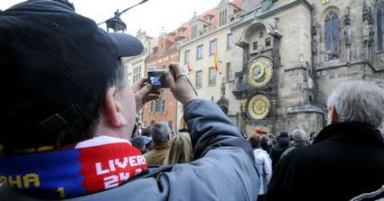 Fanoušci Liverpoolu v Praze