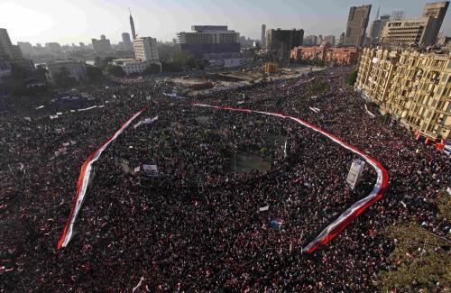 Káhirské náměstí Tahrír se znovu naplnilo lidmi
