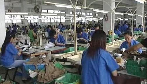 Výroba textilu v Číně