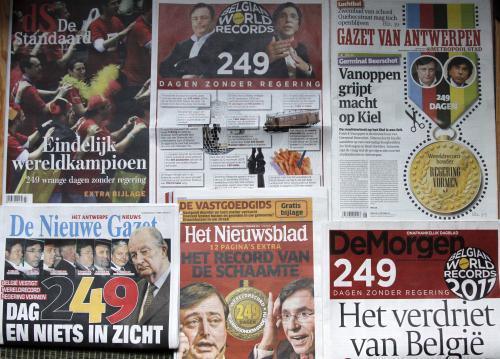Belgický tisk informuje o rekordní vládní krizi