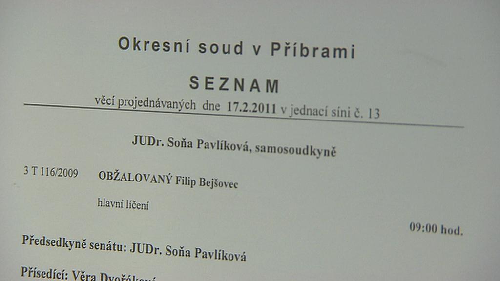 Soud s Filipem Bejšovcem