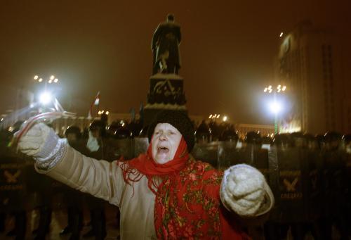 Protesty proti znovuzvolení Lukašenka