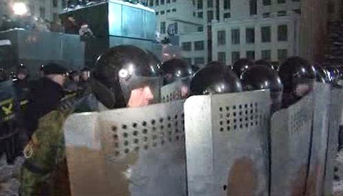 Zásah běloruské policie proti demonstrantům