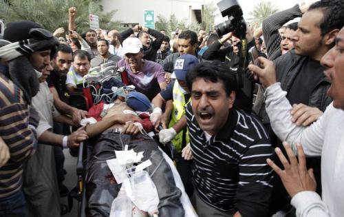 Zraněný protivládní demonstrant