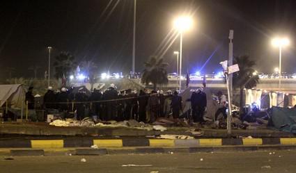 Zásah bahrajnských policistů