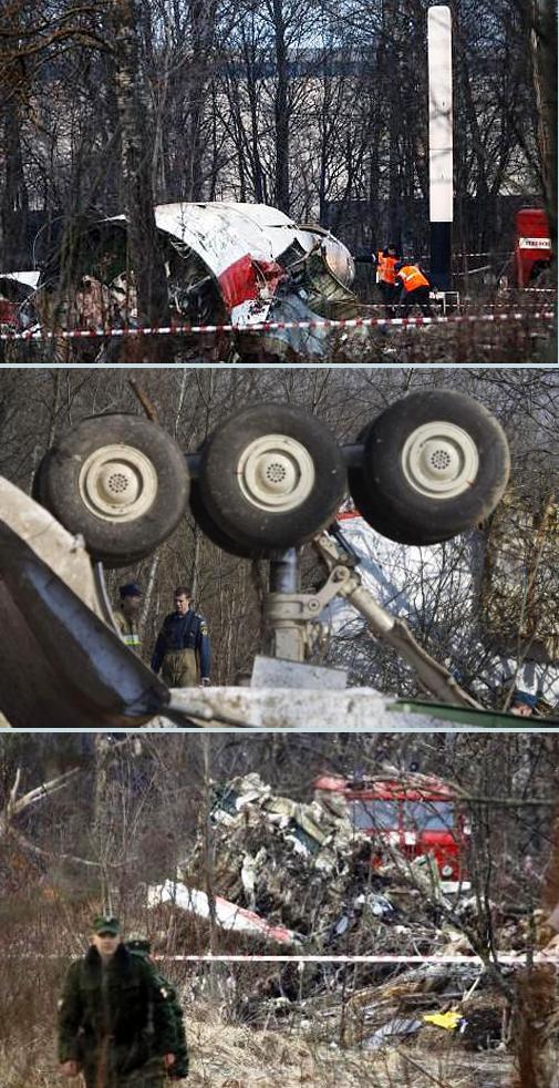 Trosky polského vládního letounu u Smolensku