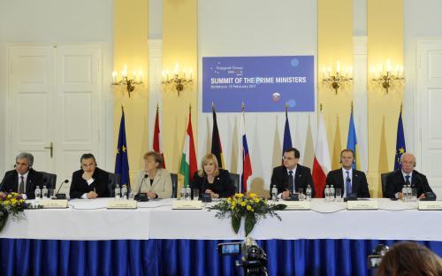 Setkání V4 a německé kancléřky a rakouského premiéra