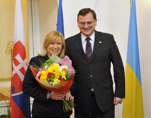 Iveta Radičová a Petr Nečas