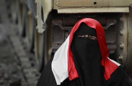 Egyptská demonstrantka