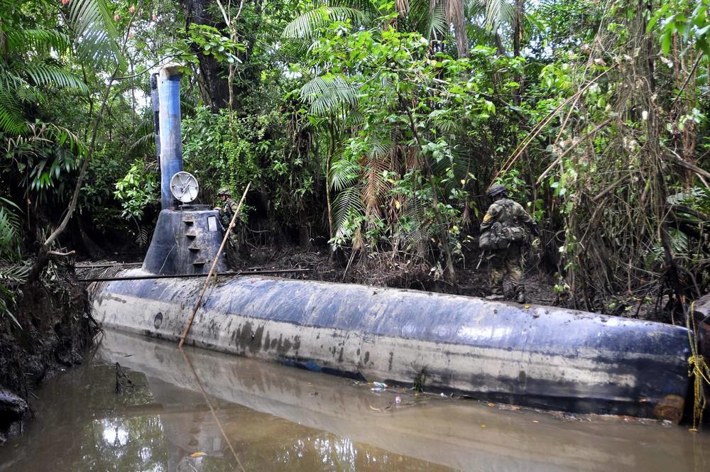 Zabavená ponorka kolumbijské narkomafie