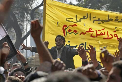 Demonstrace v Egyptě za vyšší platy