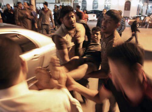 Zraněný demonstrant v Bahrajnu