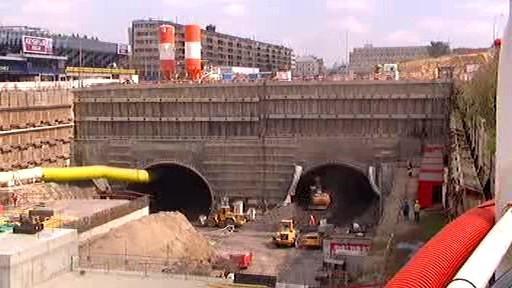 Výstavba tunelového komplexu Blanka