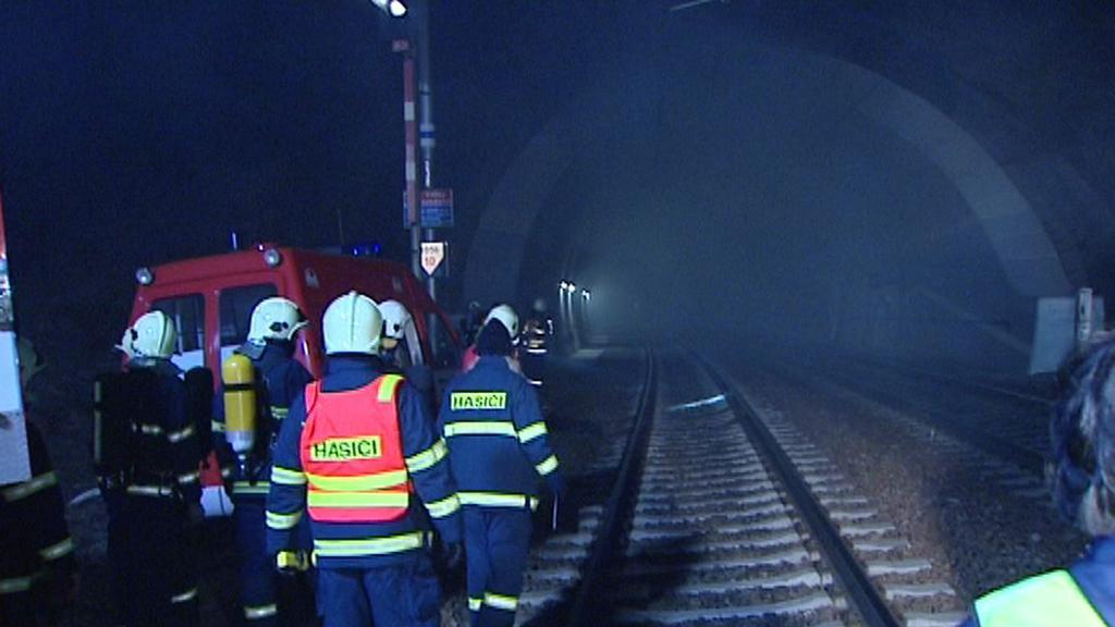 Záchranáři na železnici