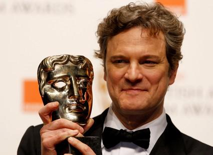 Colin Firth přebírá cenu BAFTA