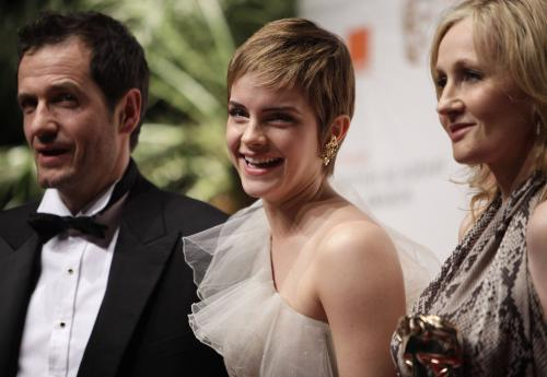 David Heyman, Emma Watsonová a J. K. Rowling