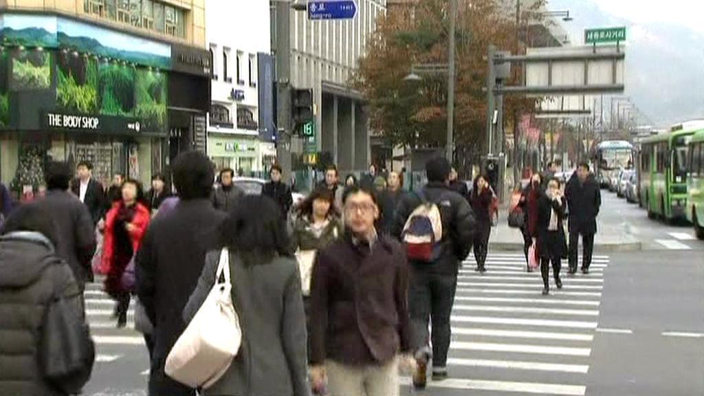 Ulice v jihokorejském Soulu