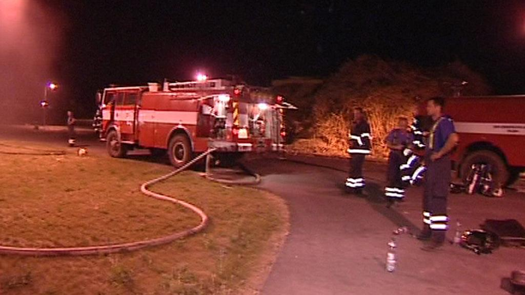 Výjezd hasičů k požáru