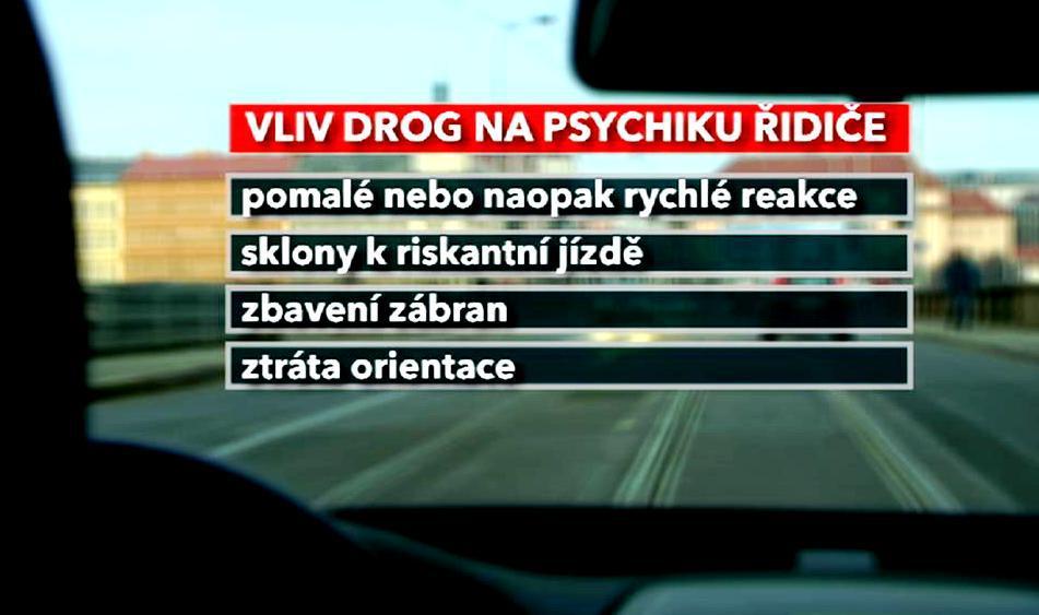 Vliv drog na psychiku řidiče