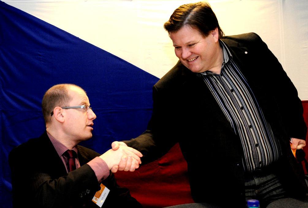 Bohuslav Sobotka a Zdeněk Škromach