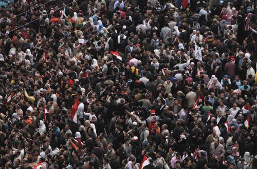 Zklamaní Egypťané na náměstí Tahrír