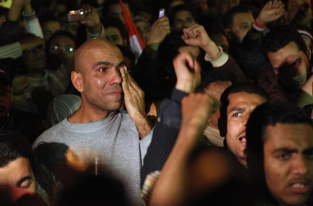Mubarakův projev vehnal demonstrantům do očí slzy