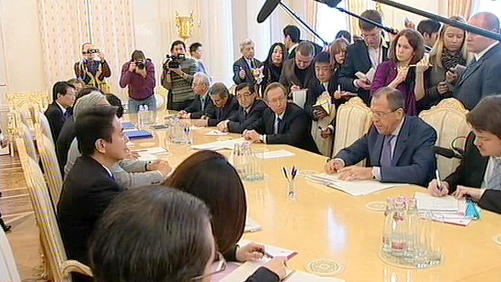 Jendání japonského a ruského ministra zahraničí