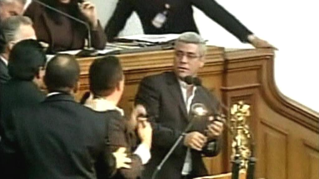 Bitka ve venezuelském parlamentu