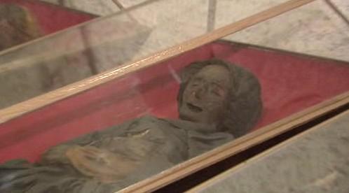 Mumie v klatovských katakombách