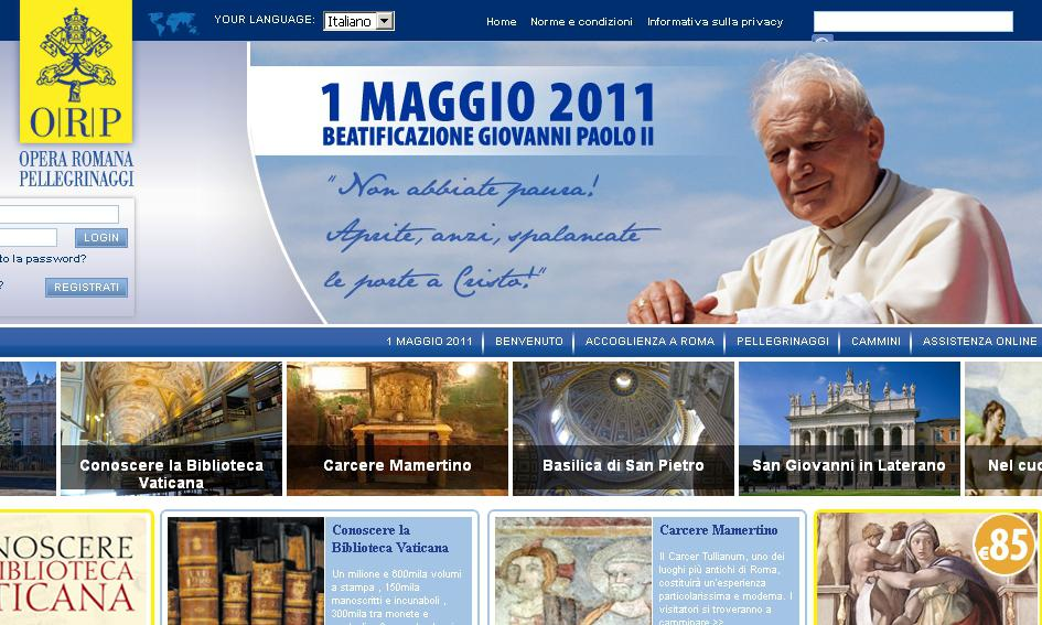 Webové stránky k blahořečení Jana Pavla II.