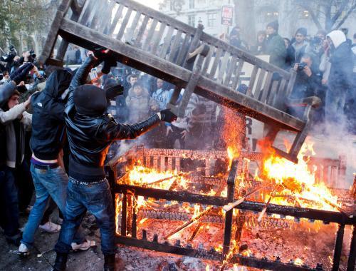 Protestní akce britských studentů