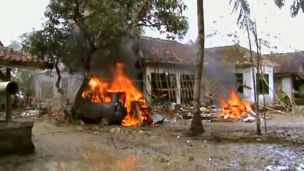 Následky útoku islámských radikálů v Indonésii