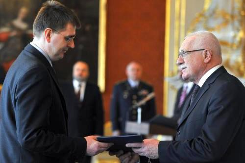 Lubomír Lízal a Václav Klaus