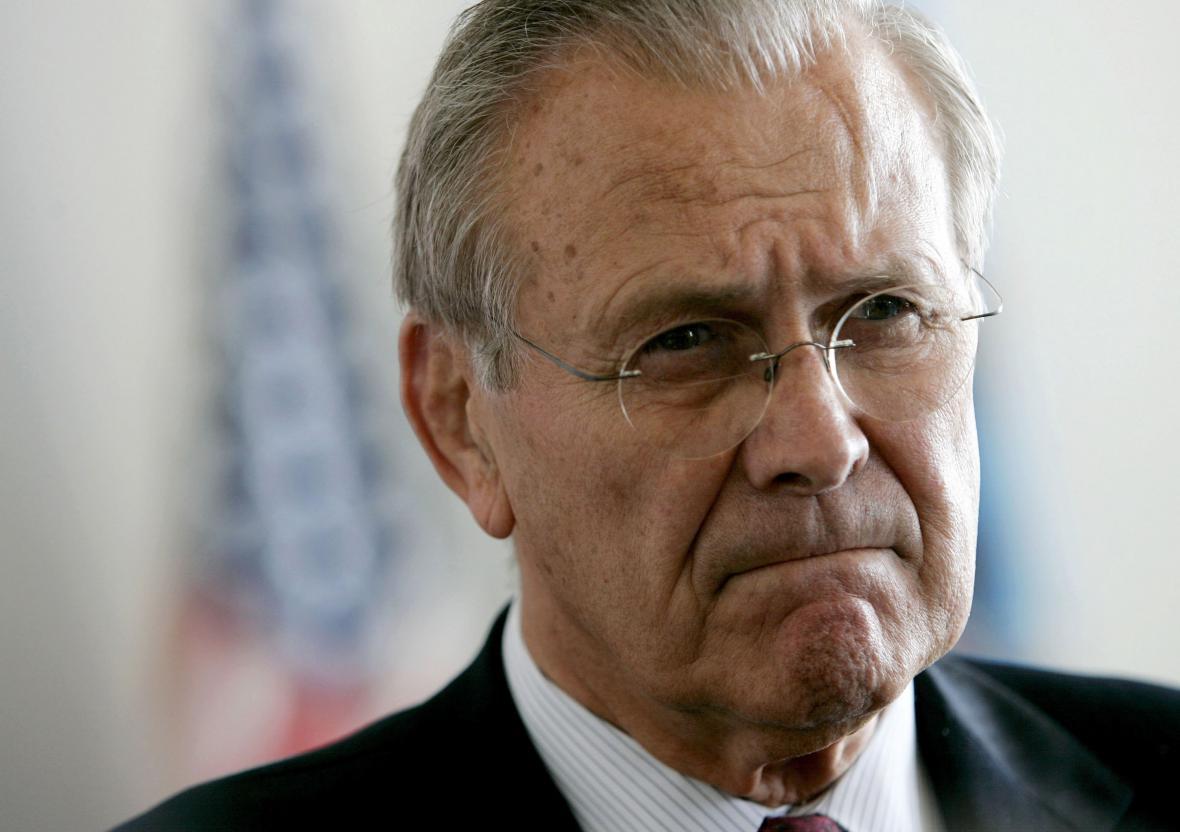 Bývalý ministr obrany USA Donald Rumsfeld