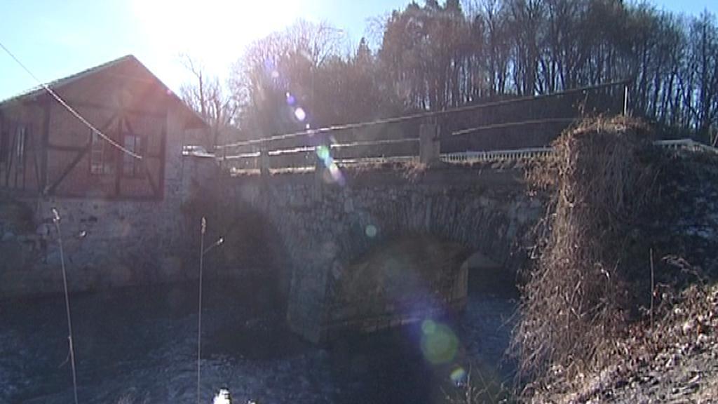 Historický mostek v Českém Krumlově
