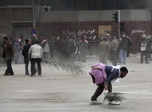 Lidé na náměstí Al Tahrír
