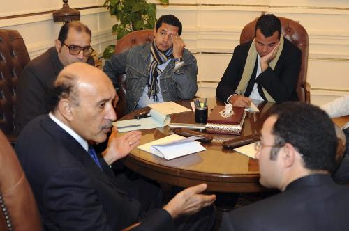 Viceprezident Sulajmán při jednání s opozicí