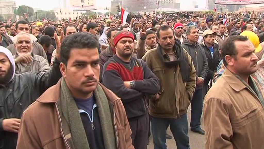 Přívrženci egyptské opozice