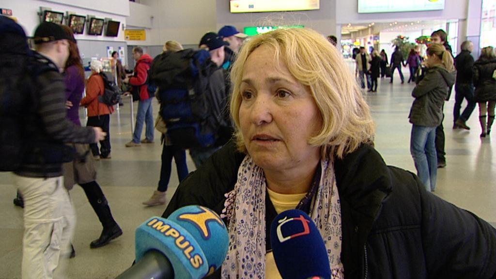 Česká turistka po příletu z Egypta
