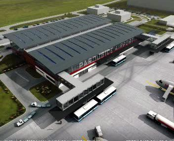 Model pardubického letiště