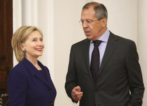 Hillary Clintonová a Sergej Lavrov