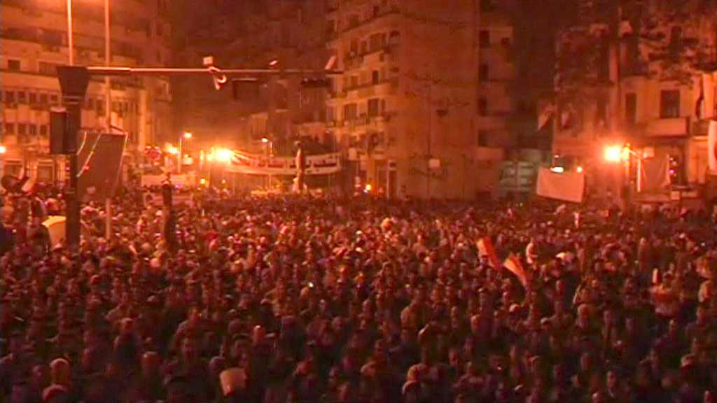 Páteční demonstrace na káhirském náměstí Tahrír