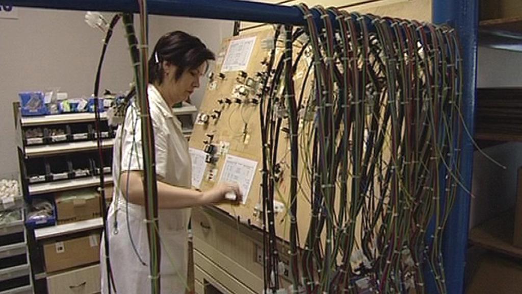 Pracovnice firmy Braun Kabel